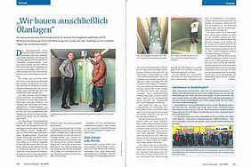 Haase-Partner Herr Krebs berichtet über ein Bauvorhaben mit einem Kellertank von 15.200 Litern.