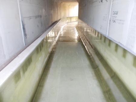 GFK-Auskleidung Überleiter zwischen Tagebau