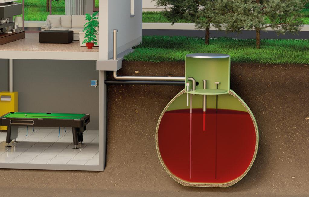 Heizöl lagern ohne Keller: im Erdtank von Haase kein Problem.
