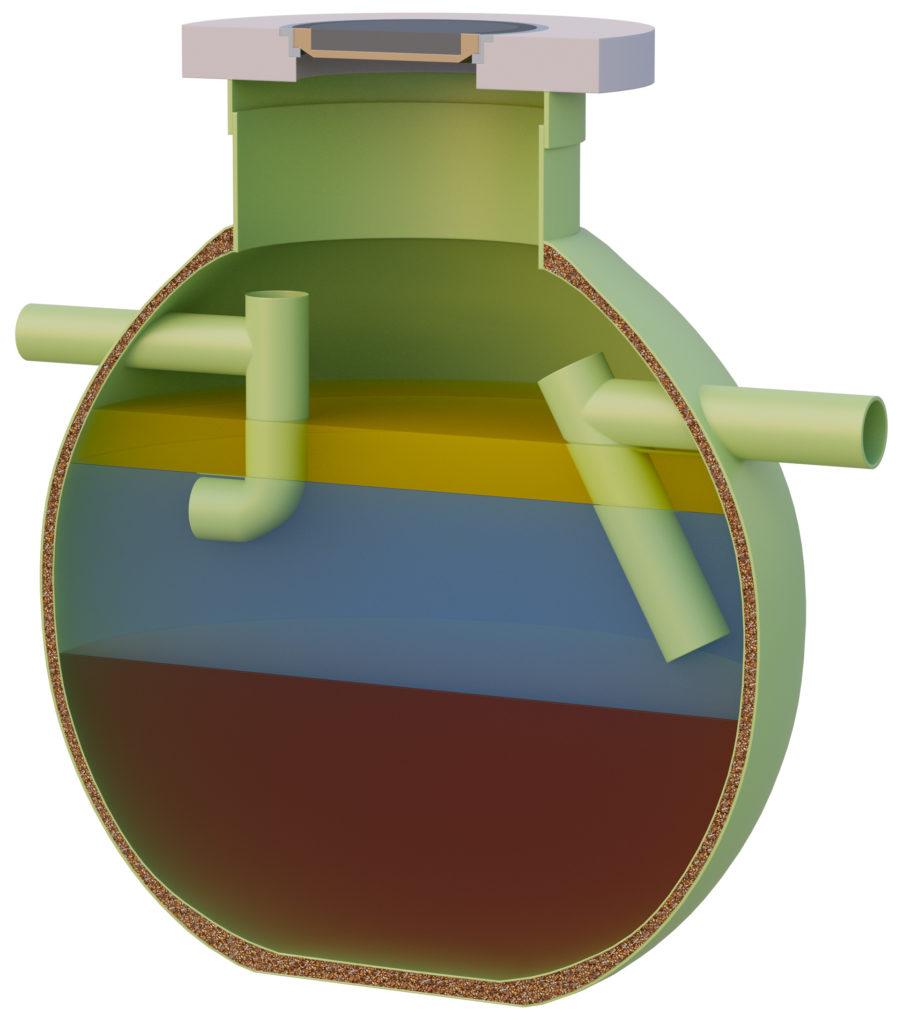 Haase Fettabscheider sind dauerhaft beständig auf Glasfaserverstärktem Kunststoff.