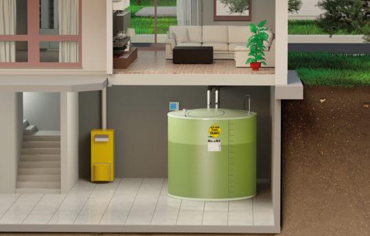 Klein durch die Tür- groß im Keller: das gilt für alle Kellertanks von Haase.