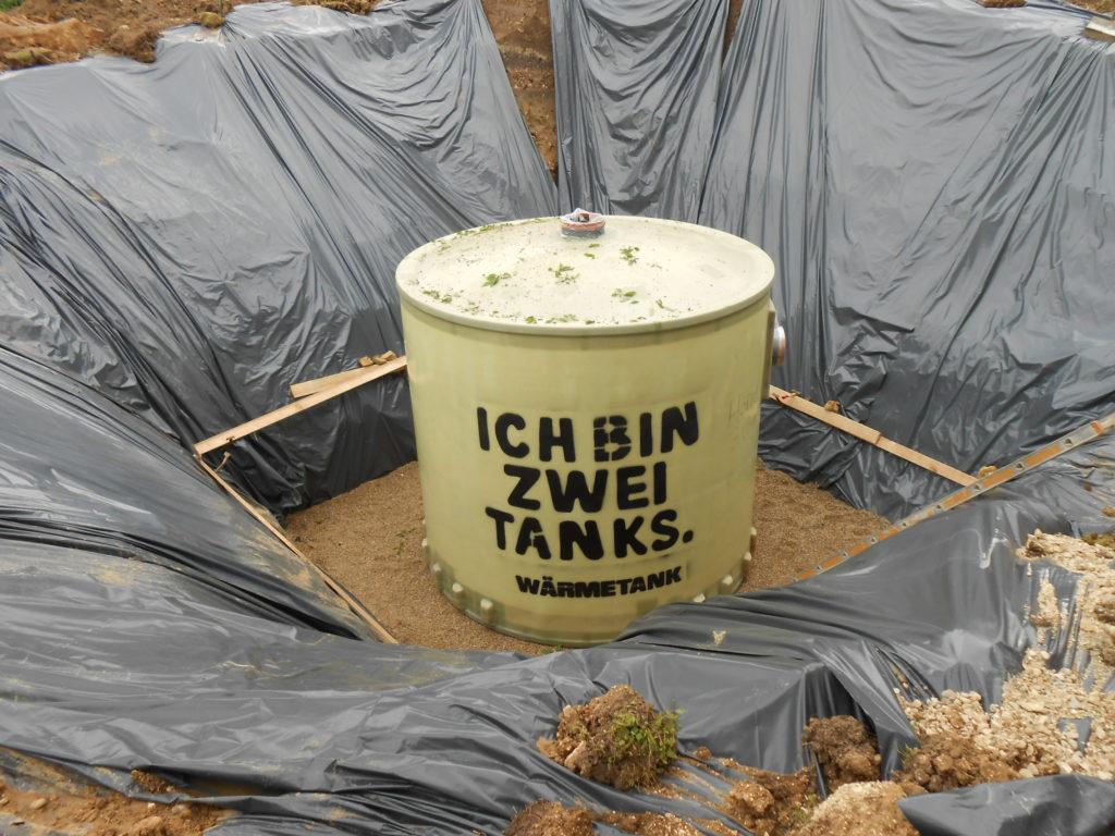 Unterirdische Pufferspeicher von Haase mit 14.300 Litern Volumen