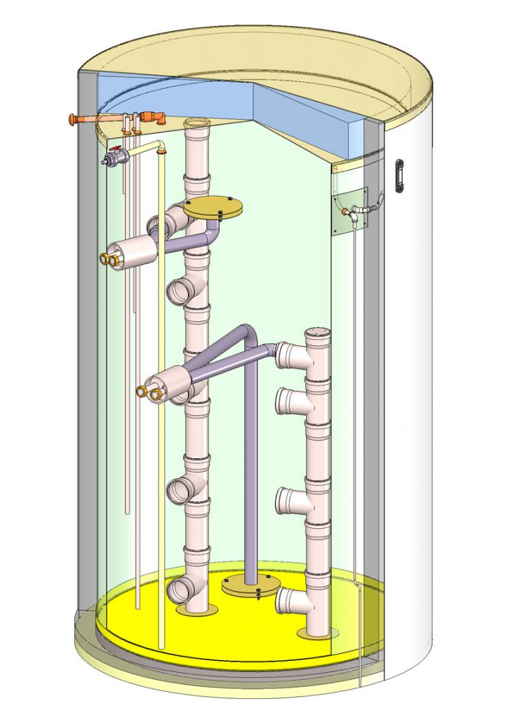 Durch die Verwendung der Schichtenladeeinheit kann eine Anlage auch mit geringen Leistungen die Energie in einem großen Speicher einlagern.