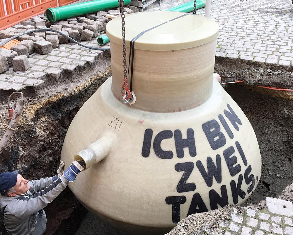 Haase Fettabscheider für ein Restaurant in Esslingen.