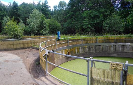 Betonbehälter für Sickerwasser mit GFK saniert
