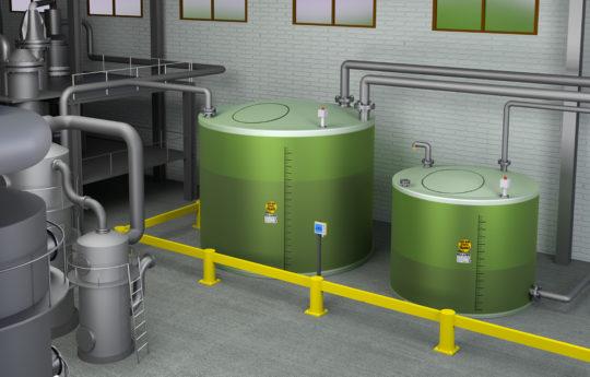 Der doppelwandige Flachbodentank von Haase sind für die sichere Lagerung von Chemikalien, Abwässern und anderen wassergefährdenden Flüssigkeiten geeignet.