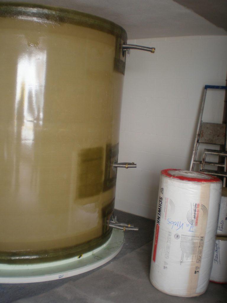 Der Werkstoff GFK ist verantwortlich für die sehr geringen Wärmeverluste.