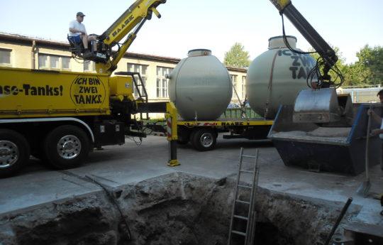 Vorbereiten der Baugrube