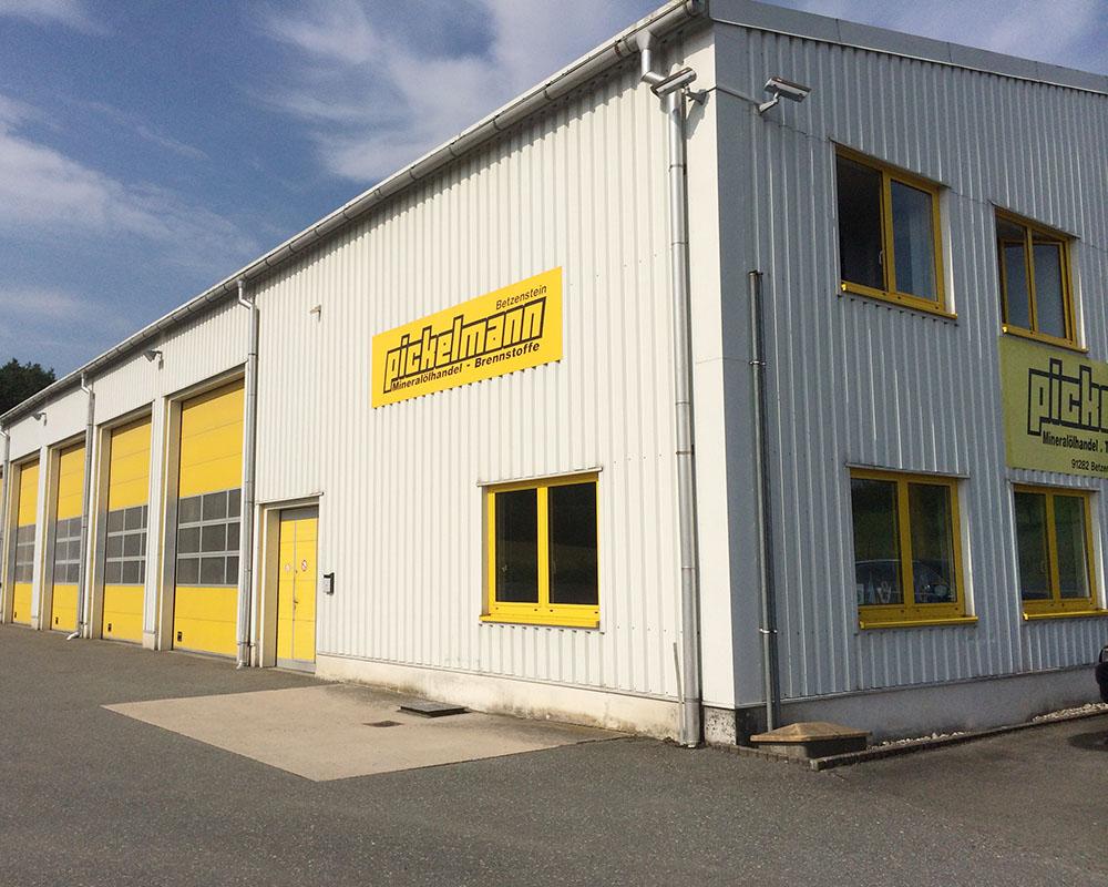 Betriebsgelände der Firma Pickelmann in Betzenstein wo der Abscheider eingebaut wurde