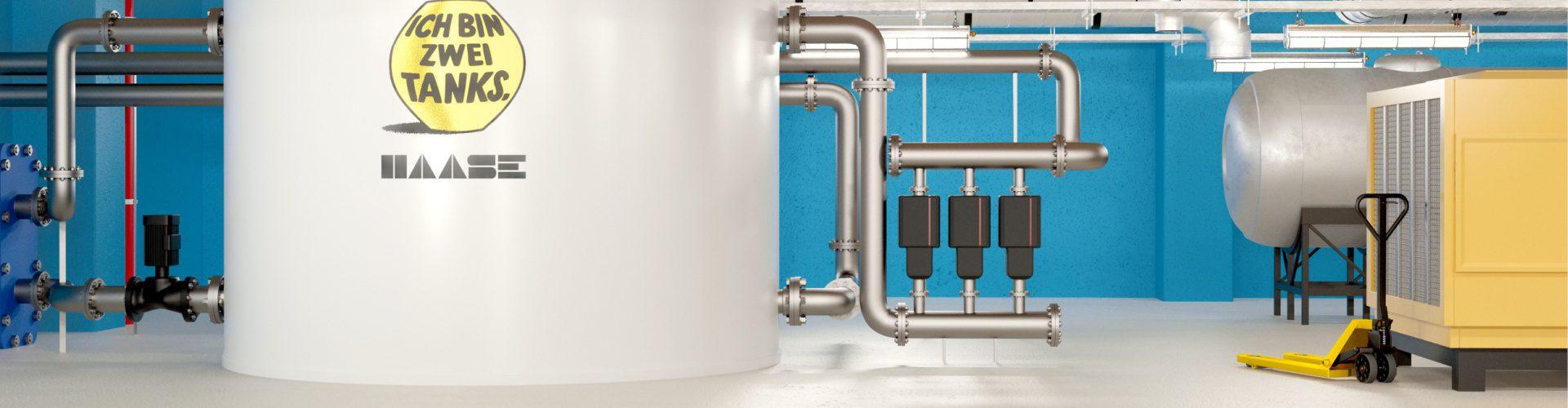 Grafische Darstellung eines Wärmespeichers von Haase Tank