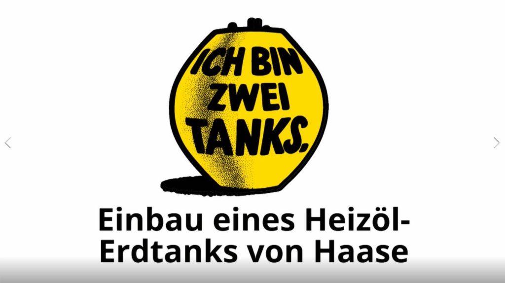 Einbau eines Heizöl Erdtanks von Haase