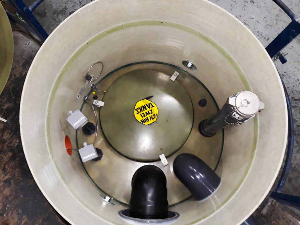 Typische Ausstattungsvariante eines Lagertanks von Haase