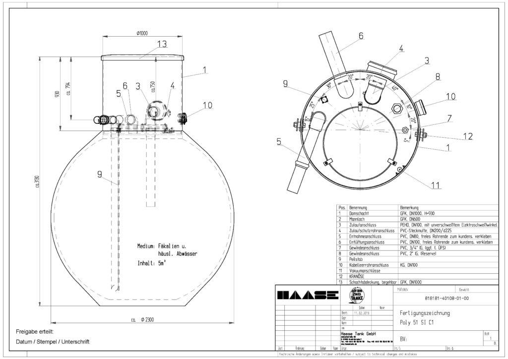 Die Fertigungszeichnungen der Lagertanks werden von Haase gemeinsam mit dem Kunden erarbeitet.