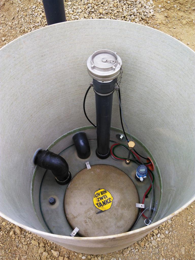 Unter anderem wurde ein Ultraschall-Füllstandsmesser eingebaut.