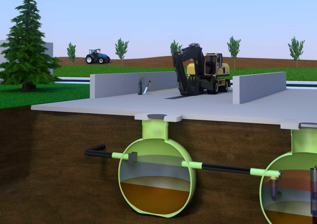 Der Vorschlammfang von Haase Tank
