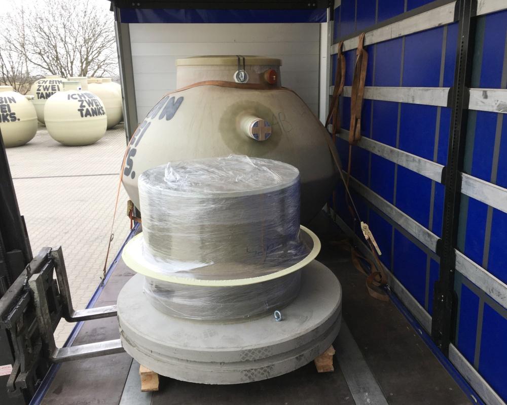 Dank des geringen Gewichts können die Abscheider mit einer Spedition transportiert werden.