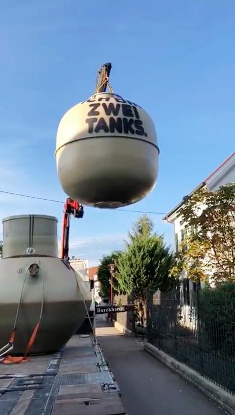 In dem Tank können bis zu 9,3 t Pellets sicher gelagert werden.