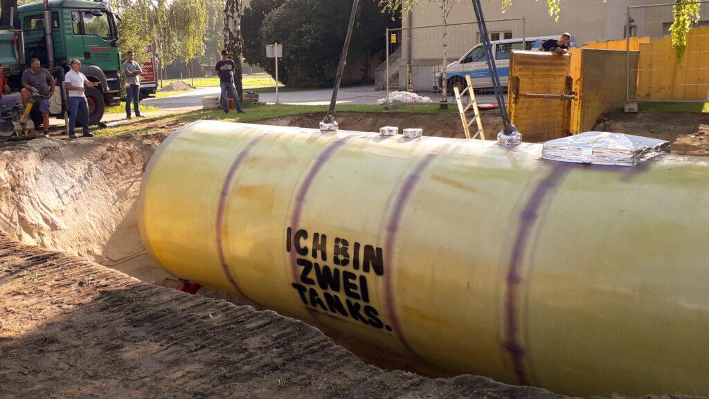 Der Wärmespeicher von Haase hat ein Volumen von 60.000 Litern.