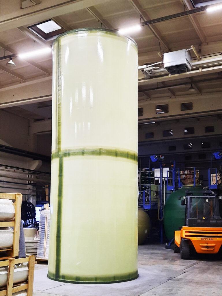 Der innere Tank des Wärmespeichers wurde in Teleskoptechnik hergestellt.