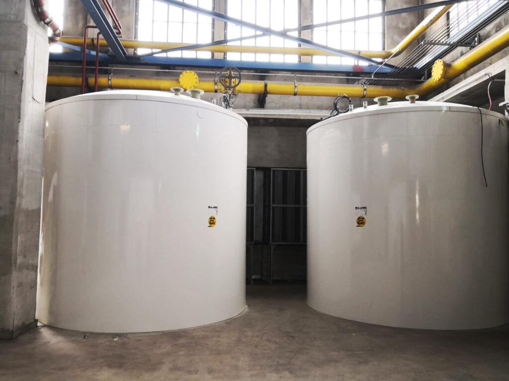 Die beiden Harnstofftanks haben ein Nutzvolumen von je 29,5 m³.