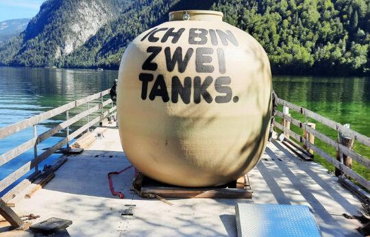 """Die Fahrt über den Königssee war für den Tank der Höhepunkt der """"Reise""""."""