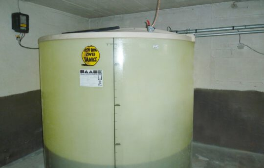Haase basement tank is constructed with double walls and is absolutely odor-proof.