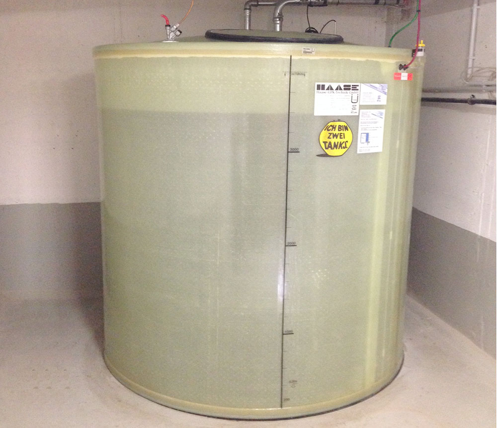 The Haase basement tank can be set up in any earthquake zone in Germany.