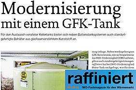 Haase-Kellertank im Fachmagazin für den Wärmemarkt.