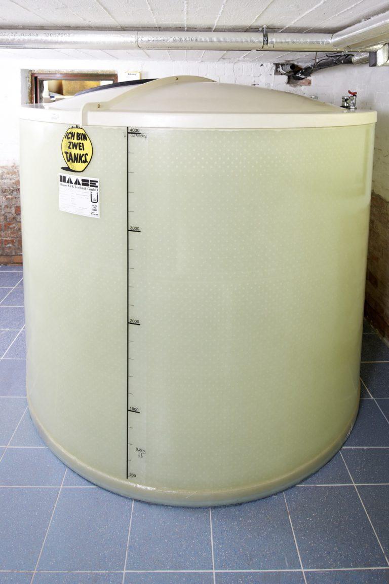 A fully assembled Haase basement tank.