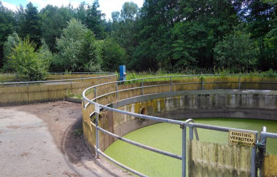 Concrete tanks for leachate renovated with GRP.