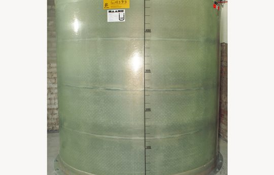 A buoyancy-proof Haase basement tank with a volume of 5,000 liters, a diameter of 1.92 m and a height of 1.85 m.