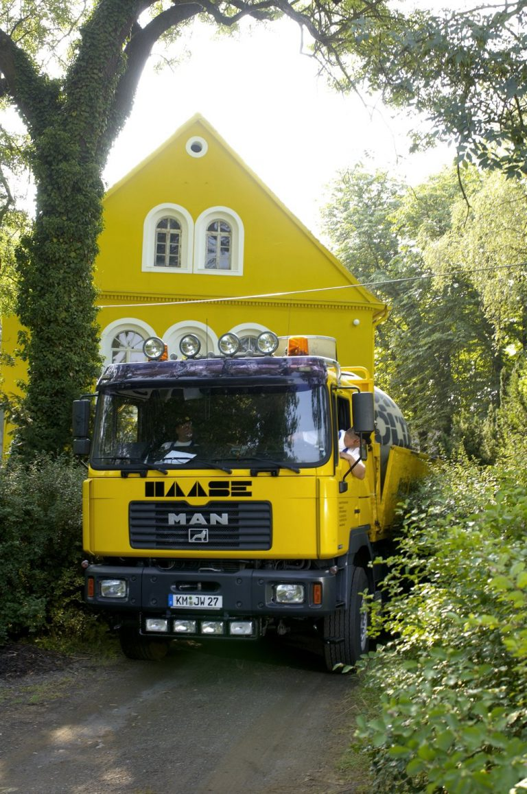 Haase underground tanks are delivered with our special vehicle.