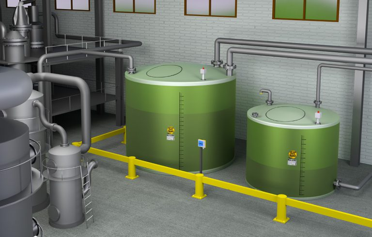 The double-walled flat-bottom tank from Haase is suitable for the safe storage of chemicals, waste water and other water-polluting liquids.