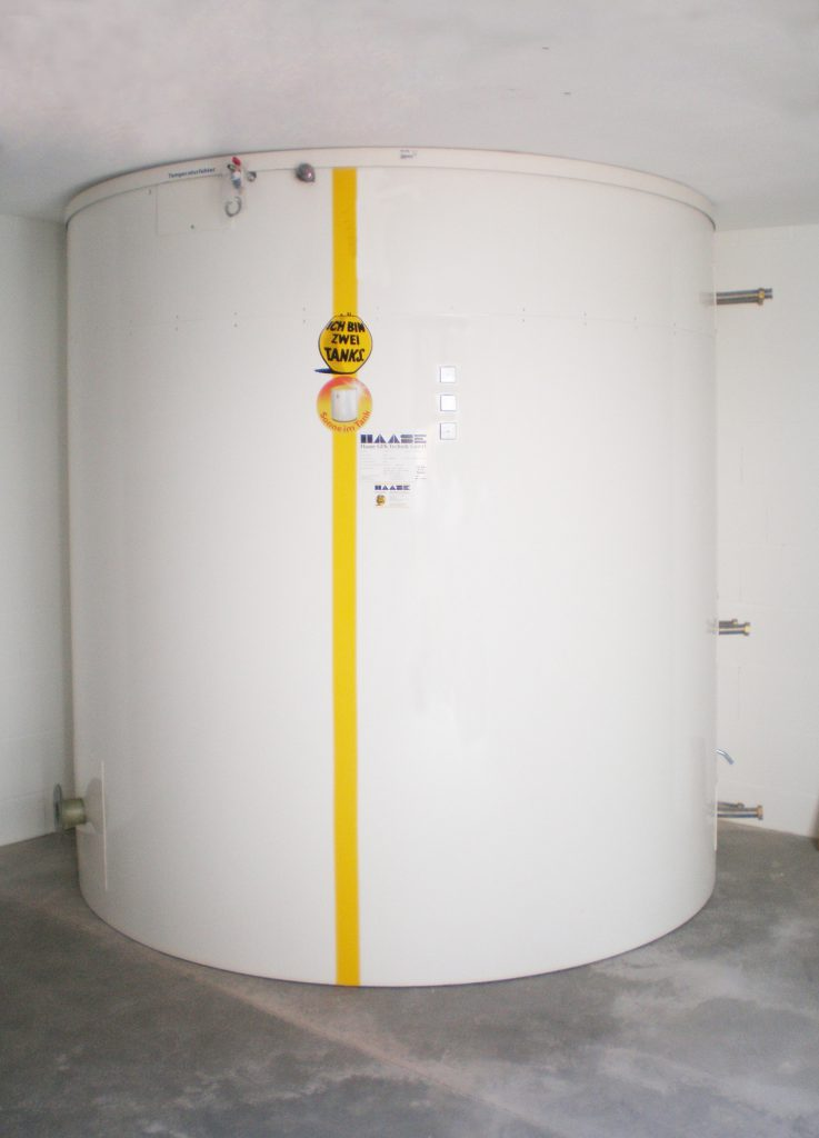 When fully assembled, the hot water tank has a diameter of 2.50 m and a volume of approx. 8,000 liters.