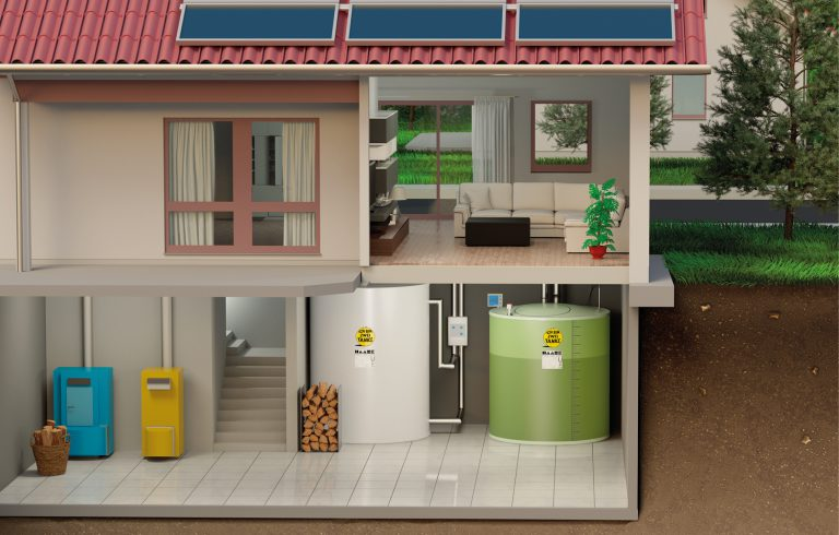 Hot water tank from Haase in a single family house