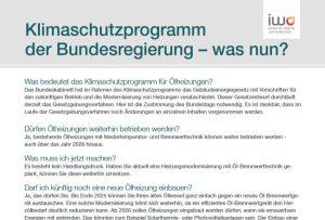 Themenblatt zum Klimaschutzprogramm